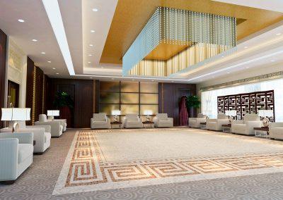 3d large reception room rendering