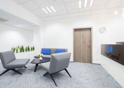 Modrý Sen Czechia - tufted multilevel loop - alaska - grey - office - 08