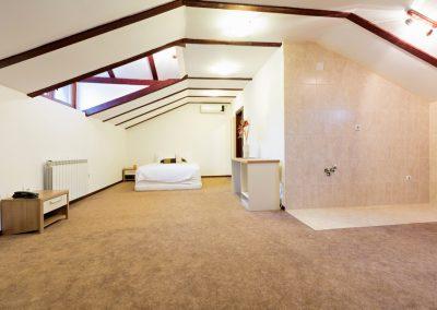 Unfinished loft apartment interior