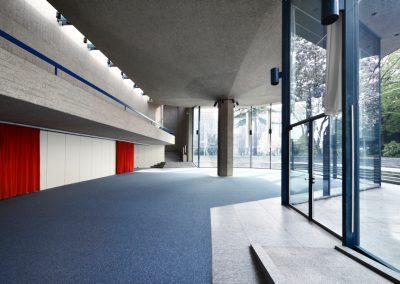 Modern beton building for public events, indoor